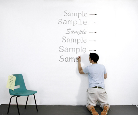 measuring ink efficiency on the wall